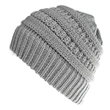Yvelands Winter Kombiset aus Schal und Passender Strickmütze (Beanie mit Pompon) in 100% Baumwolle