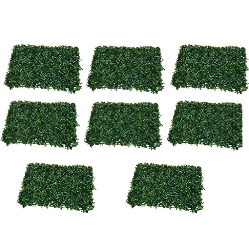 Sharplace 8 Pcs Artificiel Pelouse Faux Gazon Paysage Synthétique Jardin Décor Maison