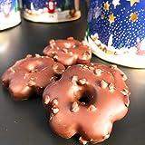 Eat to Fit Zuckerfreie Crisps & Schoko Lebkuchen mit Teelichtdose (12x11cm). Box mit 10 Lebkuchen ohne Zucker - Diabetiker Schokolade