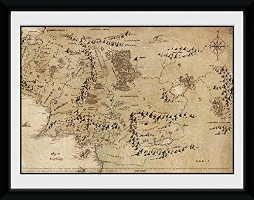 GB eye LTD, El Señor Anillos, Mapa, Fotografía enmarcada
