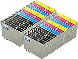 Pack de 20 Skia Cartouches d'encre Epson 16 XL WorkForce WF 2010 W 2510 2520 NF 2530 2540 2630 2650 DWF 2660 2750