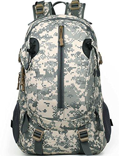Lakaka Wanderrucksack Military Rucksack Taktischer Rucksäck Große Militär Assault Pack Tasche für Wandern Camping Hikking Bergsteigen Grau