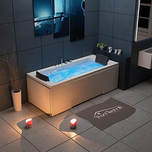 Tronitechnik Whirlpool Badewanne IOS 170cm x 75cm inkl. Spülfunktion, Hydromassage und Farblichtherapie