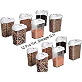 [Sponsored]JD Brand Polyproplene Food Container, Spice Container, Dal Container And Storeg Container Set Of 12 (1100ml)