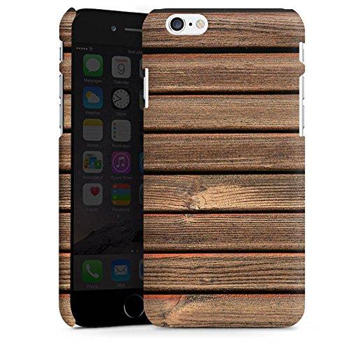 Apple iPhone X Silikon Hülle Case Schutzhülle Holz Look Holzlatten Planken Premium Case matt