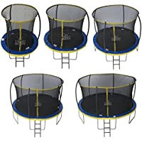 Zero Gravity Kinder Ultima 4 with Safety Enclosure Netting and Ladder High Spec Trampoline, Blue/Yellow, 183cm - preisvergleich