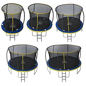 Zero Gravity ZG06U4 Ultima 4 High Spec Trampoline with Safety Enclosure Netting and Ladder, Blue/Yellow, 6 ft