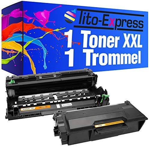 Kompatibel Toner-drum (Tito-Express PlatinumSerie 1x Toner-Kartusche XXL & 1x Drum kompatibel mit Brother TN-3480 DR-3400 | Toner 8.000 Seiten, Trommel 50.000 Seiten Druckleistung)