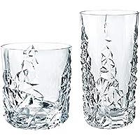 2 vasos de cristal para whisky de vino, taza de cerveza de vino creativa con grabado de 410 ml, taza de bebida corta de 380 ml