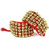 eSplanade Dance Ghungroo (50 + 50) Red 5 Line Ghungroo with Cushion Pads | Bell, Ghungru 5 Line Red Pad, Red Pad Ghungroo 5 Line (5 Line) | Paijania | Pazeb