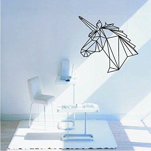 Vovotrade Originalité Tête de cheval DIY TV Mur Chambre à Coucher Décoration Murale Animal Sticker Mural (Noir)