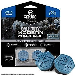 KontrolFreek Call of Duty Modern Warfare Performance Thumbsticks für PlayStation 4 (PS4) | 2 x Mittel Konvex | Blau/Schwarz