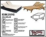 Raffles Covers RSUN210145 Wetterschutzhülle für Sonnenliege, Relaxliege und Gartenliege