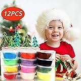 innislink Kinderknete, Springknete Intelligente Knete Hüpfknete Flummimasse Mitgebsel Kinderhand Gemachtes Lernenfür Kinder DIY Handgemachtes Lernen-12, Ton, 12 Farben