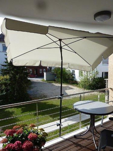 Für Schirm Stöcke bis Ø 45 mm - 1 STCK HOLLY  - MULTI - BALKONSCHIRM-HALTER mit SCHELLEN FÜR...