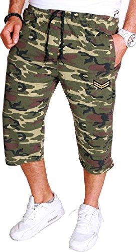Herren Männer Shorts Bermuda Kurze Hose Camouflage Camou Army Stretch (S (W29-W30), Camou_3 (R.C.1.8 099))