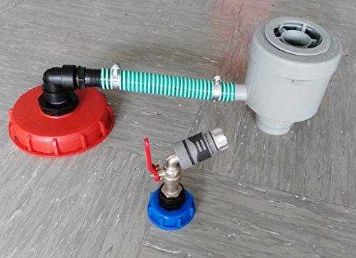GRAF garantia cMGG21DK150MK992146S-fallrohfilter avec tuyau, grelots, caoutchouc, angle, réduction bouchon 150 mm à boisseau sphérique avec bouchon s60 x 6 m 1/2 \