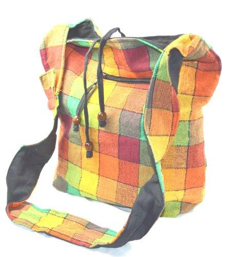 Yogi Tasche Handtasche Freizeitttasche im Indi Design bunt Karriet t-808