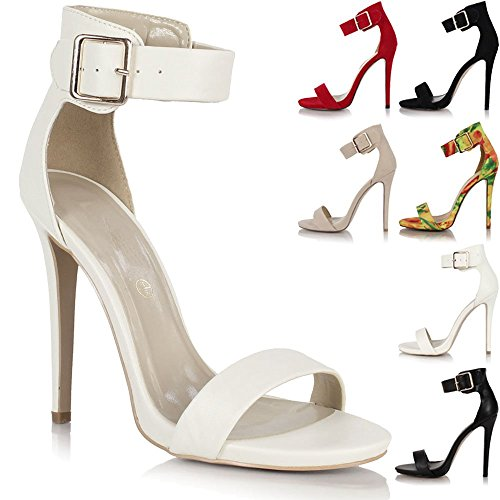 Sole Affair , Bride de cheville femme Blanc