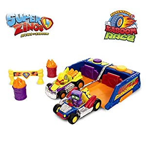 Superzings - Kaboom Race Adventure 2, con 2 vehículos y 2 exclusivas figuras SuperZings