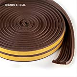 Sealplus 25 meter E type Small Gap 1 mm - 2.5 mm Self adhesive Weather Strip door window Fitting seal Brown