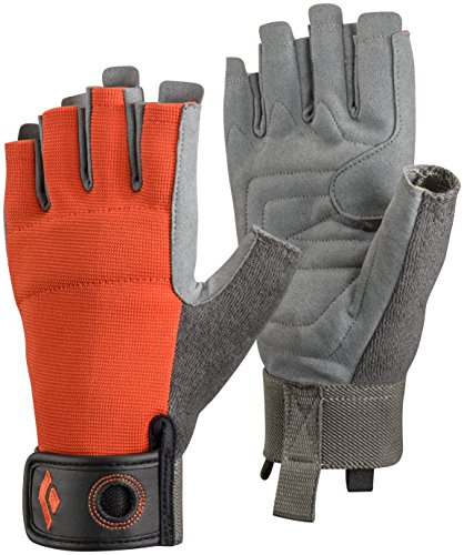 Black Diamond - Crag Half Finger, color naranja, talla M