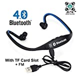 Bluetooth Headset Headphones Compatible with Samsung, Motorola, Sony, Oneplus, HTC, Lenovo, Nokia, Asus, Lg, Coolpad, Xiaomi, Micromax and All Android Mobiles (With Micro Sd Card Slot and FM Radio) Bluetooth Neckband (Color May Very)
