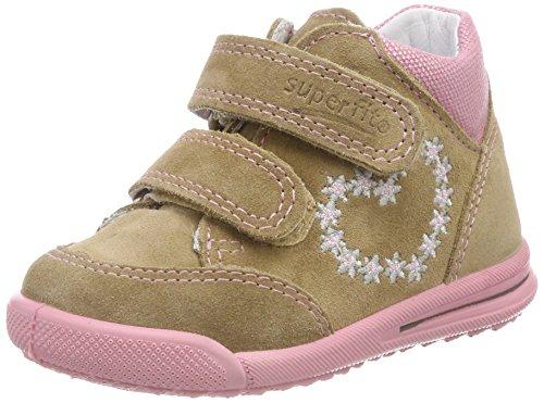 Superfit Baby Mädchen Avrile Mini Sneaker, Beige (Beige Kombi), 23 EU