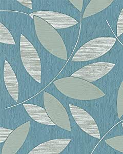 tapete marburg di moda 54224 vliestapete ranken blau gr n. Black Bedroom Furniture Sets. Home Design Ideas