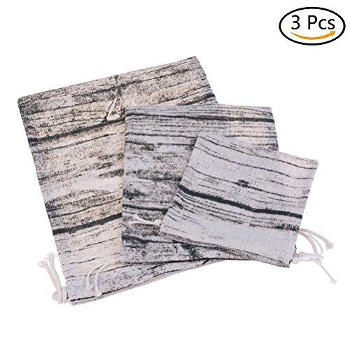 yixuan 3Pack Drawstring Storage Taschen Baumwolle Leinen Staubbeutel Schuh Stofftaschen Kordelzug (Canvas-baumwolle-schuhbeutel)