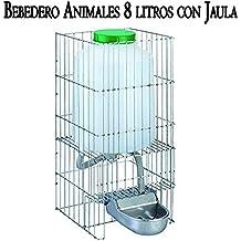 Suministros Infantes Bebedero Perros Gatos Animales Fabricado en Aluminio con DEPOSITO 8 litros. Medidas: