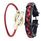 Super Drool Pure Leather Men Bracelet Co...