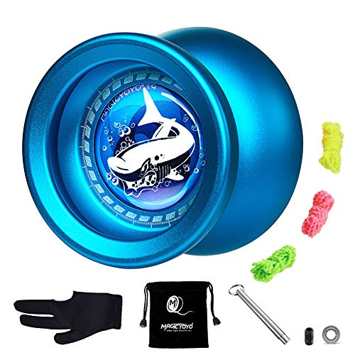 CHEE MONG MAGICYOYO Professional Responsive & Unresponsive Yoyo, Entry-Level Yo-yo Great Gift for Beginner Kids. (T9 Blue)