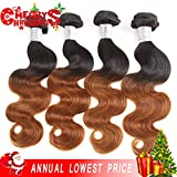 Best Grade Of Human Hair Weave - 16161818, 1B/30: XYHair Brazilian Virgin Ombre body wave Review
