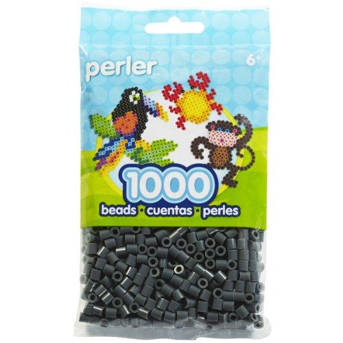 Perler Fun Fusion Beads 1000/Pkg-Dark Grey