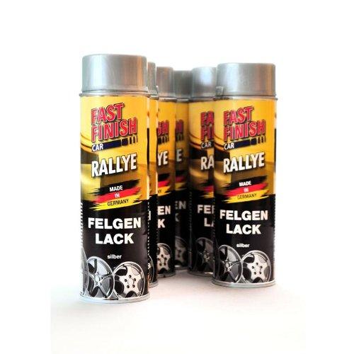 felgenspray silber FAST FINISH CAR RALLYE 1K AUTOLACK FELGENLACK SILBER 6 x 500 ml 292842/6