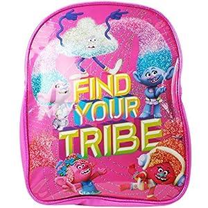 51eOfeNbGyL. SS300  - Trolls para niños Encuentra tu Tribu Mochila Rosa
