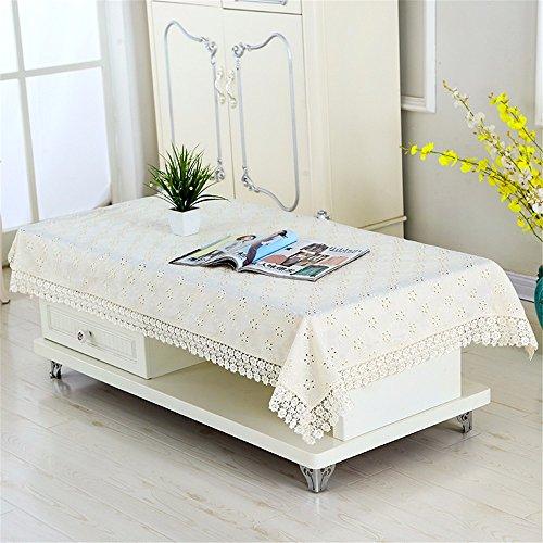 Wanjiamen'shop tavolino tovaglia tovaglia rettangolare di soggiorno agriturismo caffè tabella mat tabella mat tovaglia di stoffa piccola tovaglia tovaglia all'aperto,beige,130 * 180cm