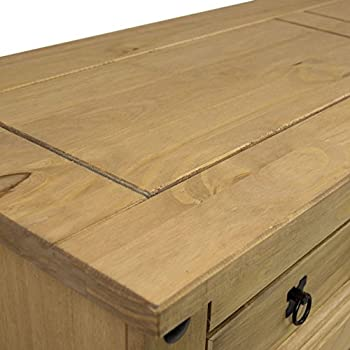Home Discount® Corona 3-door 3-drawer Sideboard Solid Waxed Pine Mexican Furniture 2