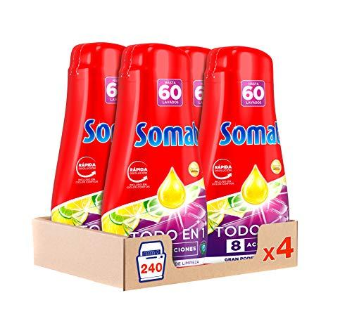 Somat Todo 1 Gel Lavavajillas Lima Limón - Pack 4
