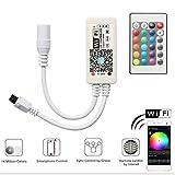 Mini Wifi RGB Led Streifen Kontrolleur Fernbedienung Arbeiten Controller mit Android und IOS System 5V-28V Für alle 3528 5050 2835 RGB LED Streifen Licht