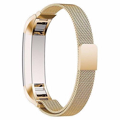 Fitbit Alta Milanaise Loop Edelstahl Armbanduhr BANDS, efanr stabiler Uhrenarmband Fitness mit Magnetisch Schnalle Business Ersatz Handgelenk Armband für Fitbit (Männer Dress Für Best Fancy)