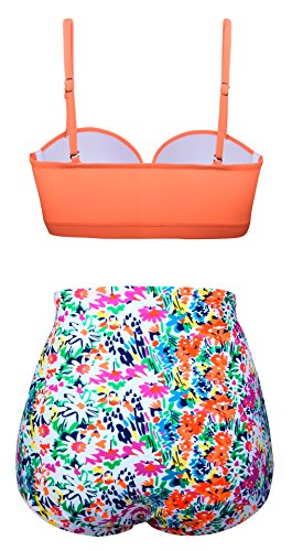 Aixy Frauen Vintage Polka Dot Hohe Taille Bademode Halter Bikini Set Badeanzüge Zwei Stück Vermischung