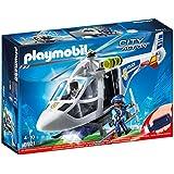 Playmobil Policía - Helicóptero de Policía con Luces LED (6921)