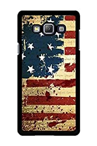 Caseque USA Flag Back Shell Case Cover for Samsung Galaxy A7