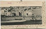 1906 Taranto Panorama Città Vecchia Palazzi Mare Barca Mousson FP B/N VG ANIM Cartolina Postale