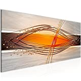 Bilder Abstrakt Wandbild 100 x 40 cm Vlies - Leinwand Bild XXL Format Wandbilder Wohnzimmer Wohnung Deko Kunstdrucke Weiß 1 Teilig -100% MADE IN GERMANY - Fertig zum Aufhängen 103312c