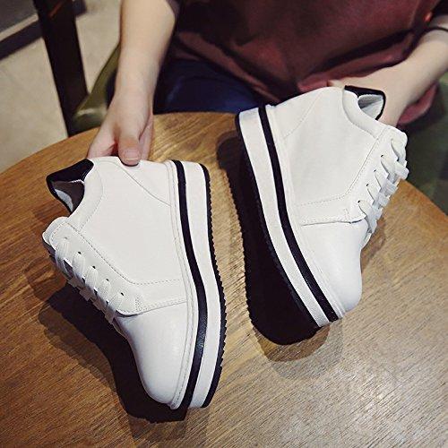 kphy-the aumento scarpe da donna spessa bianco scarpe e studenti versatile da treno con un scarpe casual, Thirty-nine Thirty-nine