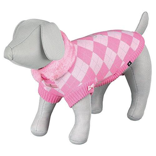 Trixie Prinzessin Hund Pullover, 33cm, rosa - Maßgeschneiderte Wolle Pullover