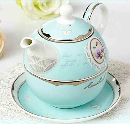 wysm Europea - Style Madre Pot Pot set di tazze in ceramica teiera Piatto Afternoon Tea Bone Porcelain Coffee Pot Tazze bolla e Piastre